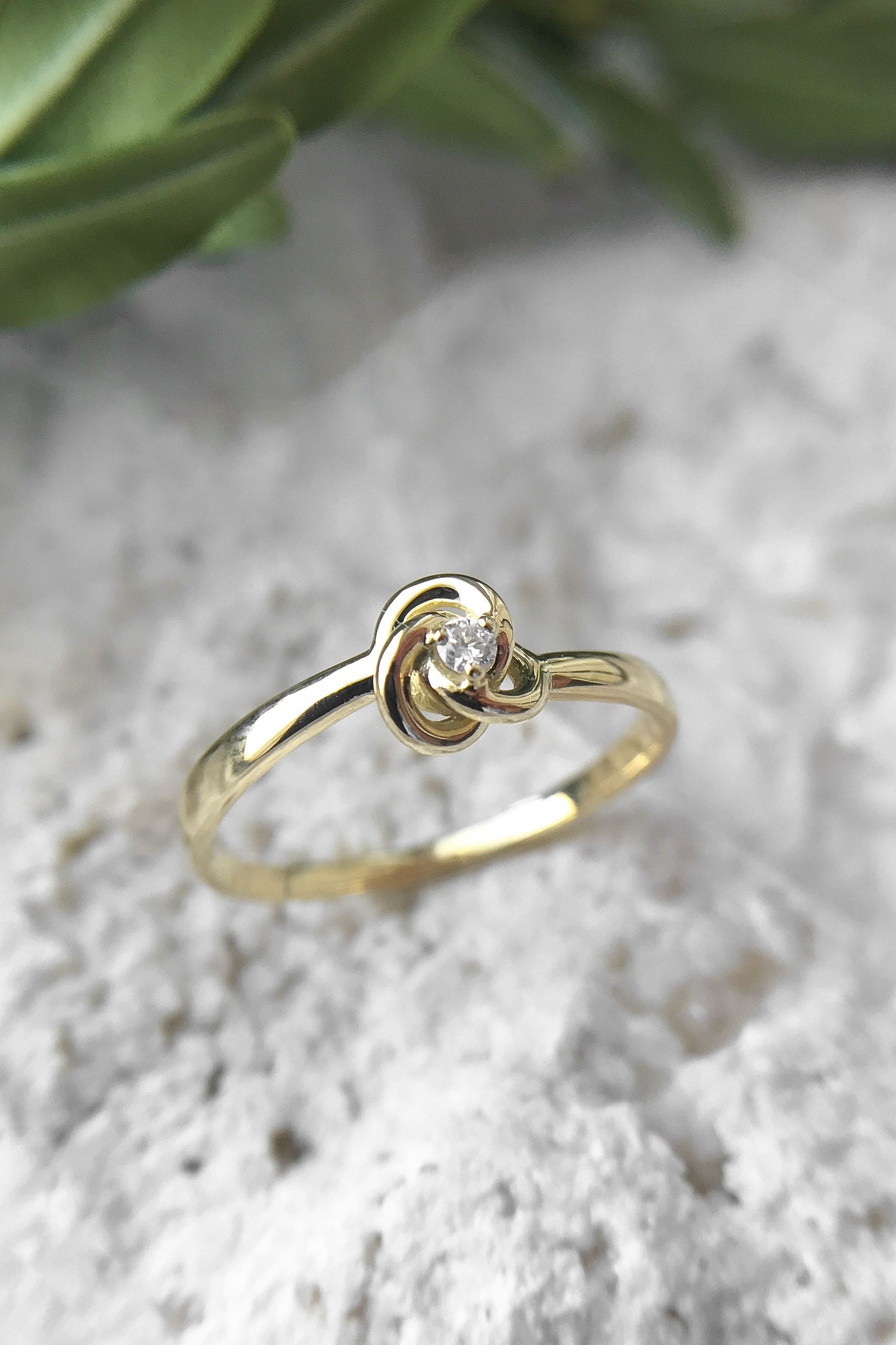Celtic engagement ring celtic knot ring yellow gold ring