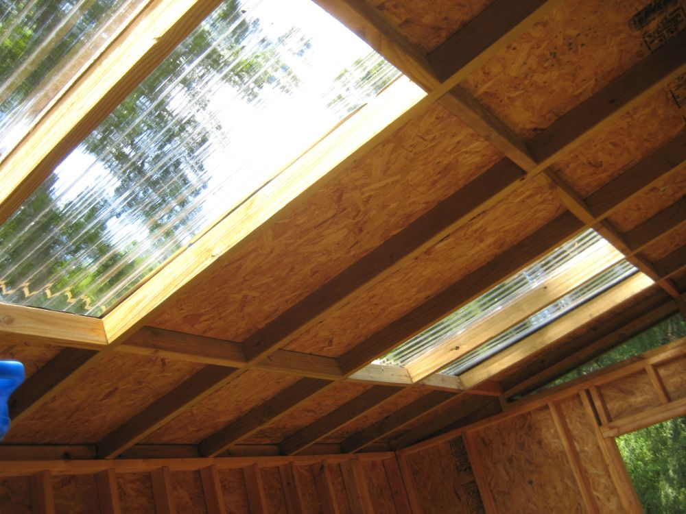I Made The Skylights With Plastic Corrugated Roofing