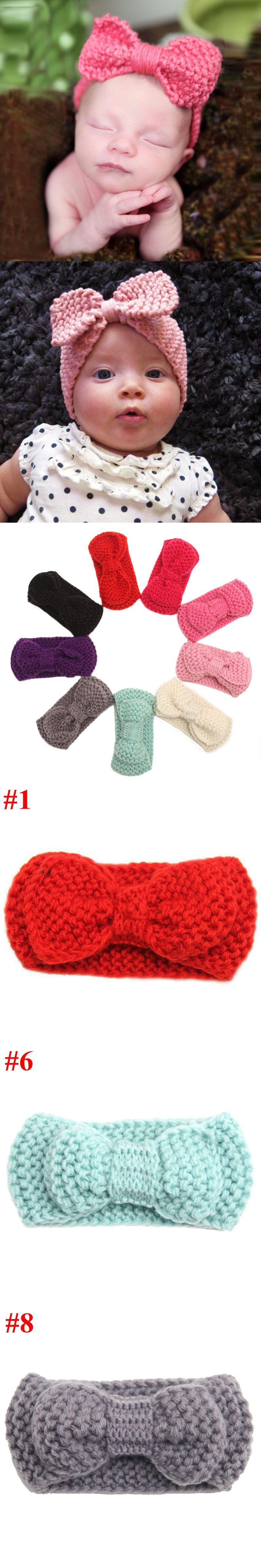 Cute Baby Crochet Headband Infant Girls Hair Accessories Ear Warmers ...