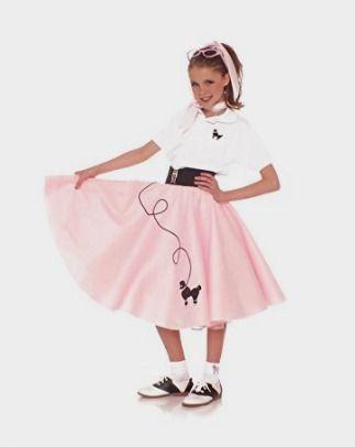 Hip Hop 50s Shop 7 Piece Child Poodle Skirt Outfit Amazon Kids Costume