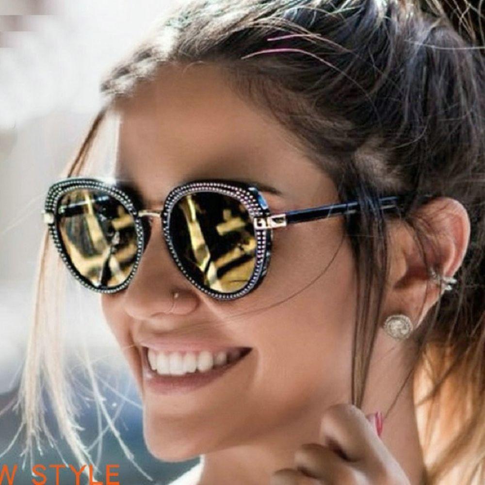 48d86e42c106e Retro Round Women Sunglasses Luxury Diamond Rhinestone Vintage Party S 2018  New  RetroRoundChina  Pilot