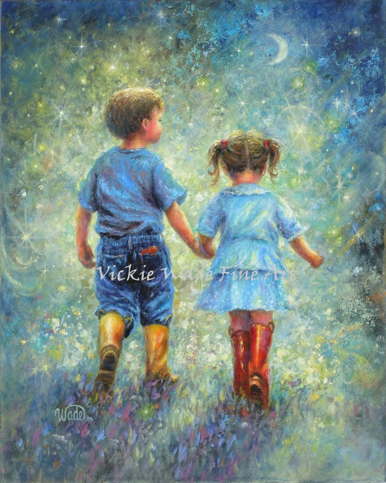 Brother Sister Art Print Big Brother Little Sister Holding Etsy In 2021 Sisters Art Art Big Brother Little Sister