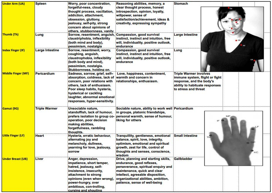 Eft tapping points chart pdf google search also rh pinterest