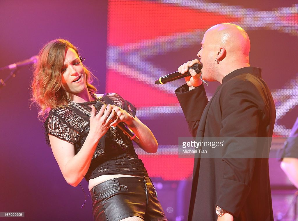 Lzzy Hale of Halestorm (L) and David Draiman of Disturbed / Device ...
