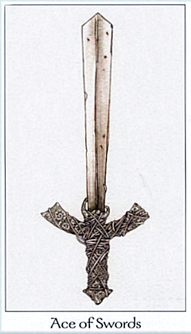 March 2014 Tarot Scopes Featuring The Dreaming Way Tarot Ace Of Swords Vintage Tarot Tarot