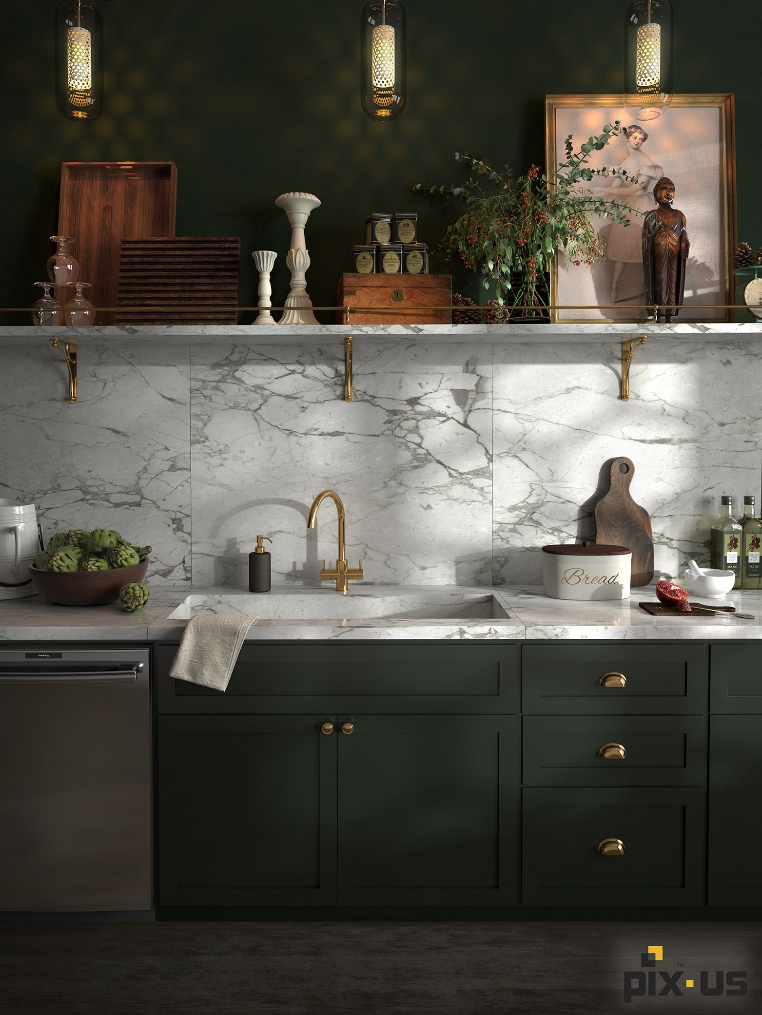 emerald and marble kitchen designed and created here at pix us kitchen marble dark green on kitchen ideas emerald green id=65381