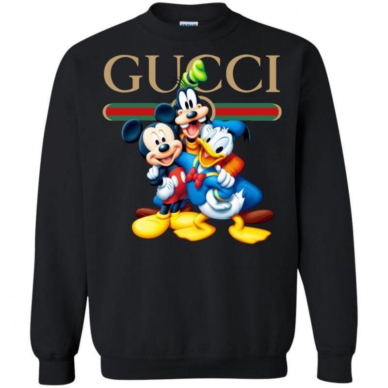 e26568e9 Gucci Gang Disney Mickey Pluto And Donald Sweatshirt - Shop Gucci Supreme  Nike Adidas T Shirt
