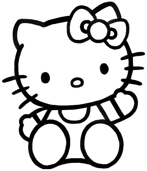 How To Draw Hello Kitty Sitting With Simple Steps For Kids How To Draw Step By Step Drawing Tutorials Hello Kitty Coloring Kitty Coloring Hello Kitty Drawing