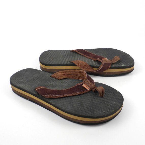 789740823ca4 1980s Flip Flops Vintage Sandals Kinsman by purevintageclothing Stripe Foam