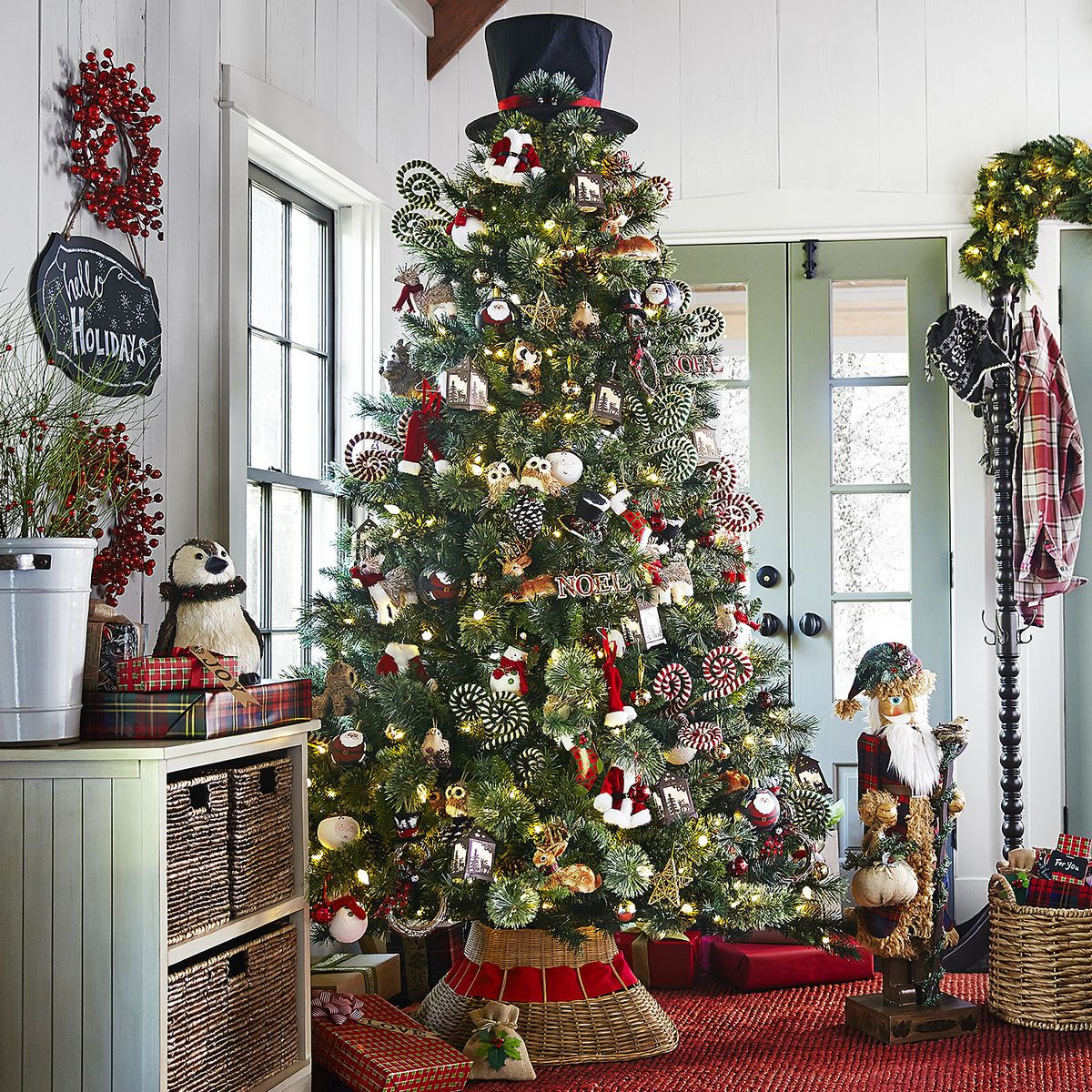 Plaid Tidings Christmas Tree - 9'