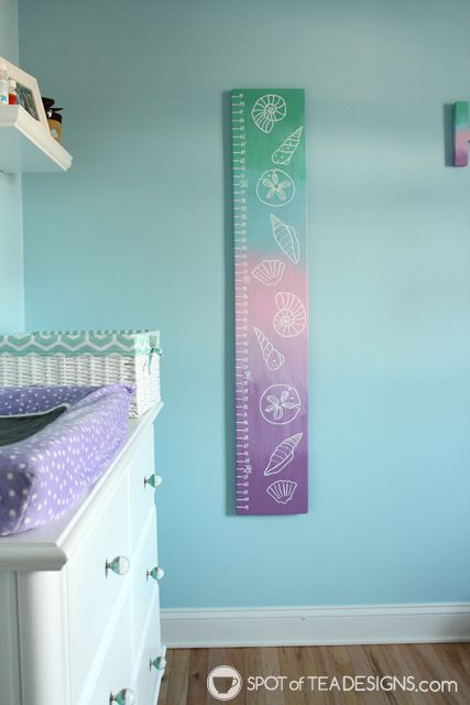 DIY Portable Growth Chart For An Under The Sea Themed Baby Nursery Craft Diy Decoart Inc