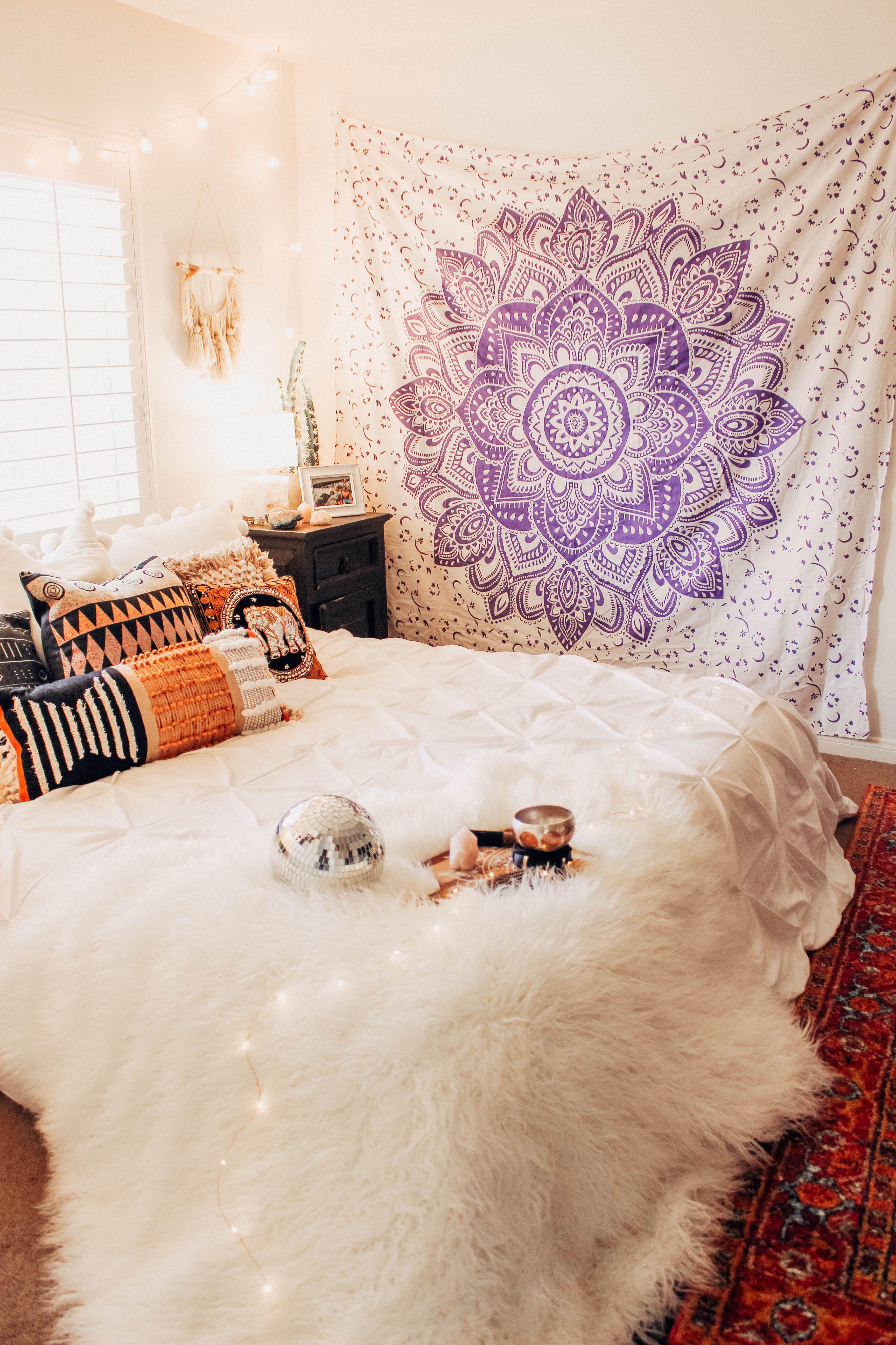 Lavender Love Mandala Tapestry  Deco chambre, Déco maison