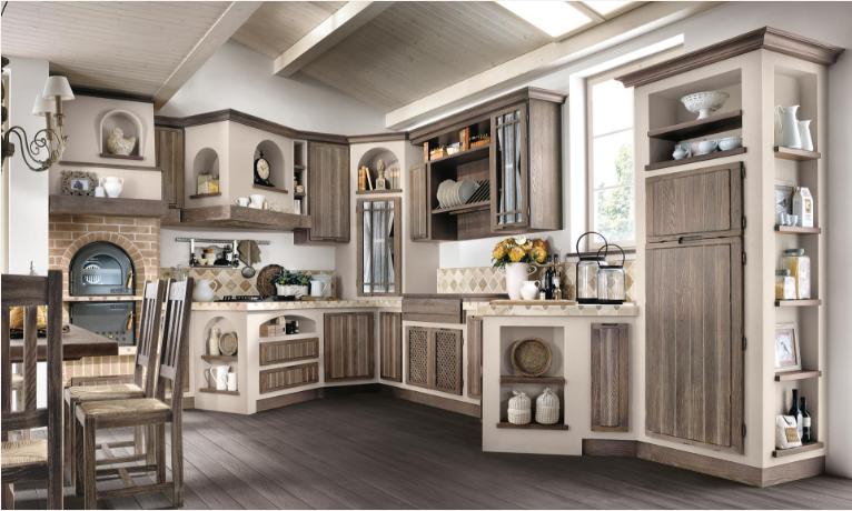 Tutta la collezione delle Cucine Borgo Antico del gruppo Lube | Casa ...