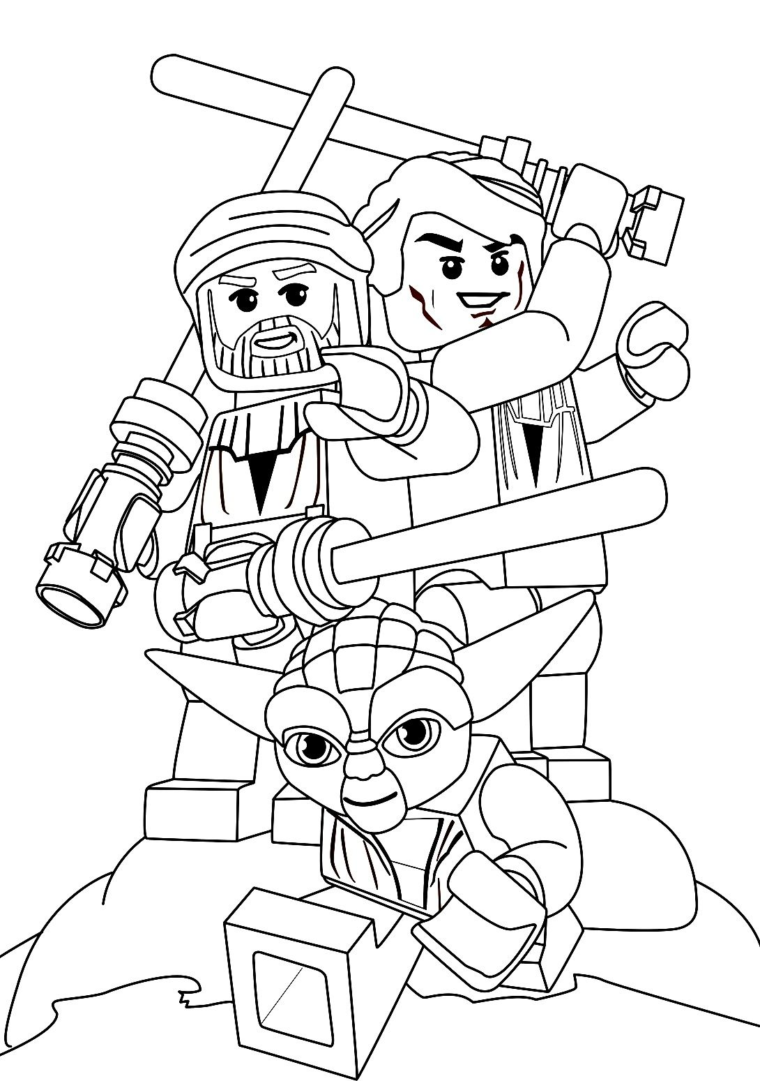 Lego Star Wars Coloring Pages | Star Wars. Yoda is the coolest one ...