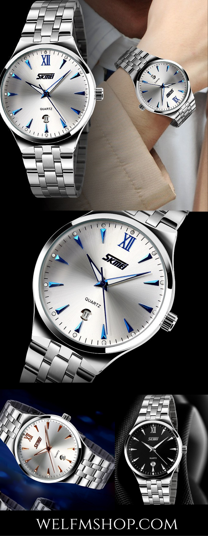 Are you looking for a Christmas gift for your man? This man's stainless steel sports watch is both sophisticated and casual at the same time. The price is great and with free shipping you can't go wrong.