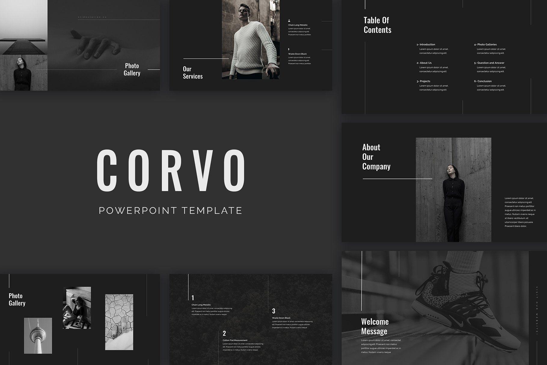 Corvo PowerPoint Presentation by SlideStation on