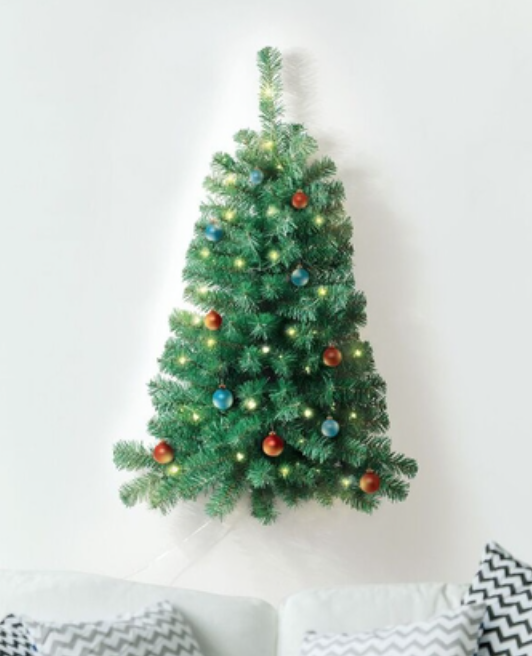 The 3 Lighted Wall Hanging Christmas Tree Is Perfect For Homes