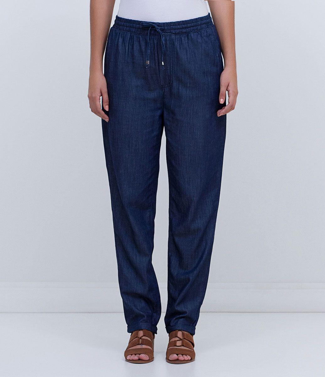 b5170190e Calça feminina Pijama Com amarração Marca  Marfinno Tecido  jeans  Composição  67% viscose