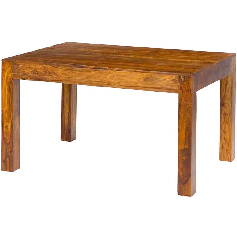 Cube Dining Table 135cm Sheesham Wood Cheap Dining Tables