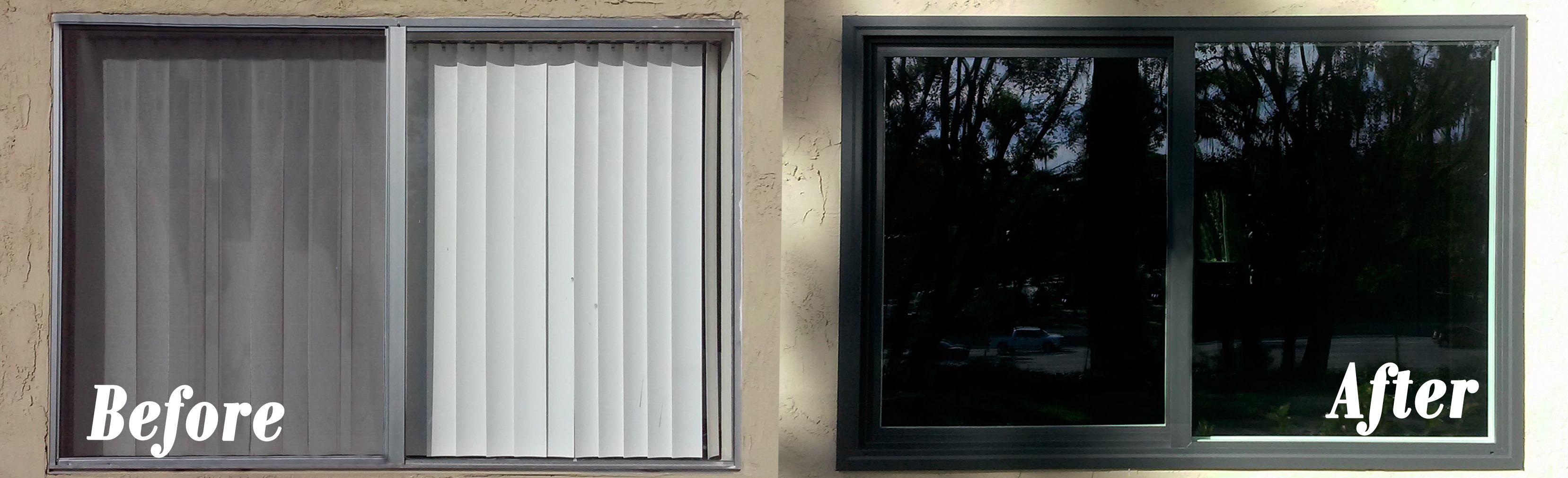 A Styleline Vinyl Window Replacement In La Mesa Before And After Vinyl Replacement Windows Windows And Doors Window Vinyl