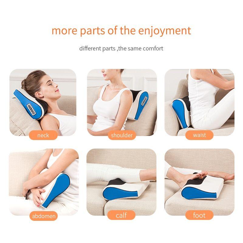 Heated Infrared Shiatsu Massage Pillow