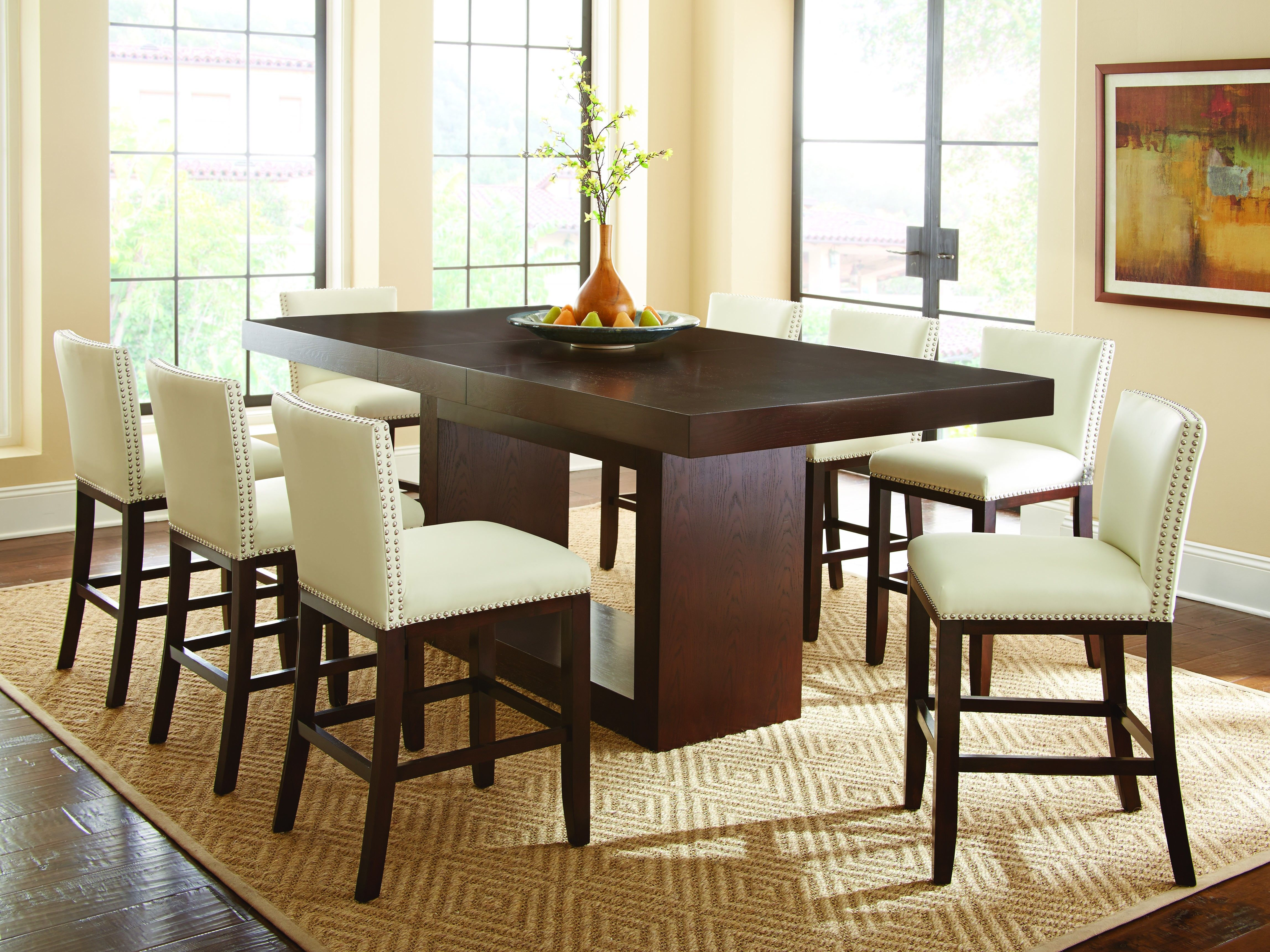 Antonio With Tiffany Counter Chairs  Steve Silver Co Unique Steve Silver Dining Room Set Decorating Design