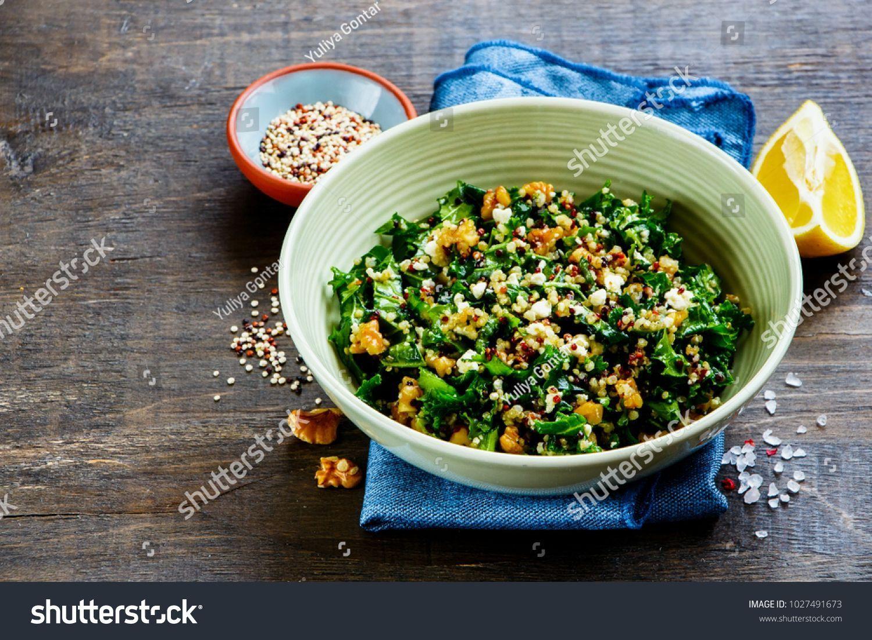 Close Healthy Detox Salad Bowl On Stock Photo (Edit Now) 1027491673-Close up of healthy detox salad