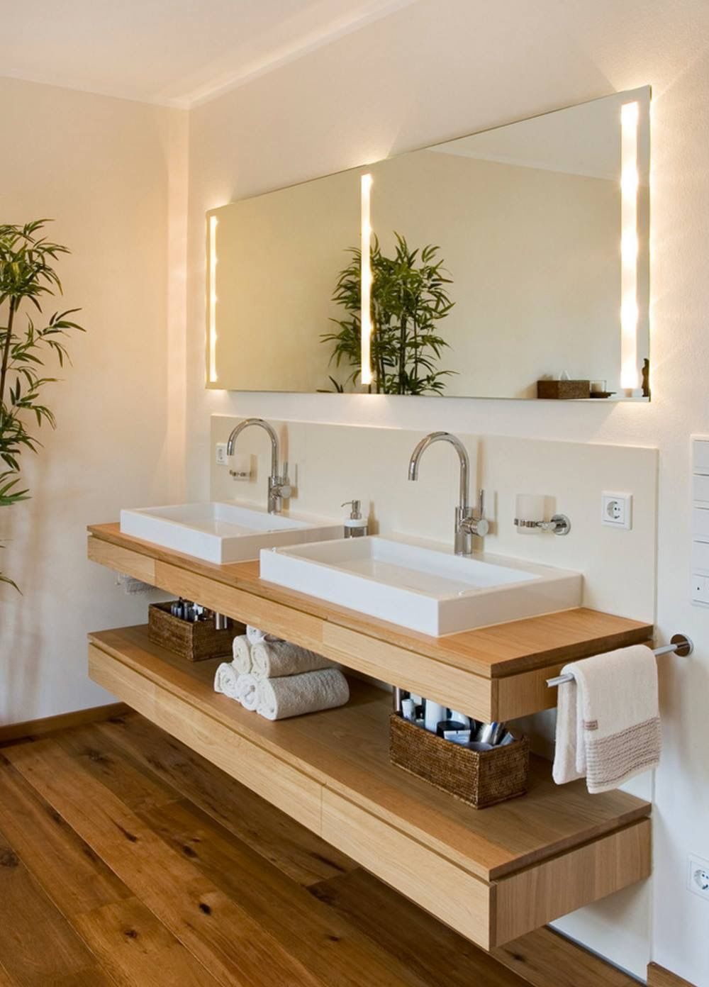 Lovely his and hers for the master bathroom. | Meuble sous ...