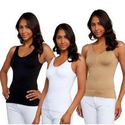 990c3b2e484 New Women s Body Shaper Genie Bra ShapeWear Tank Top Slimming Camisole  Spandex