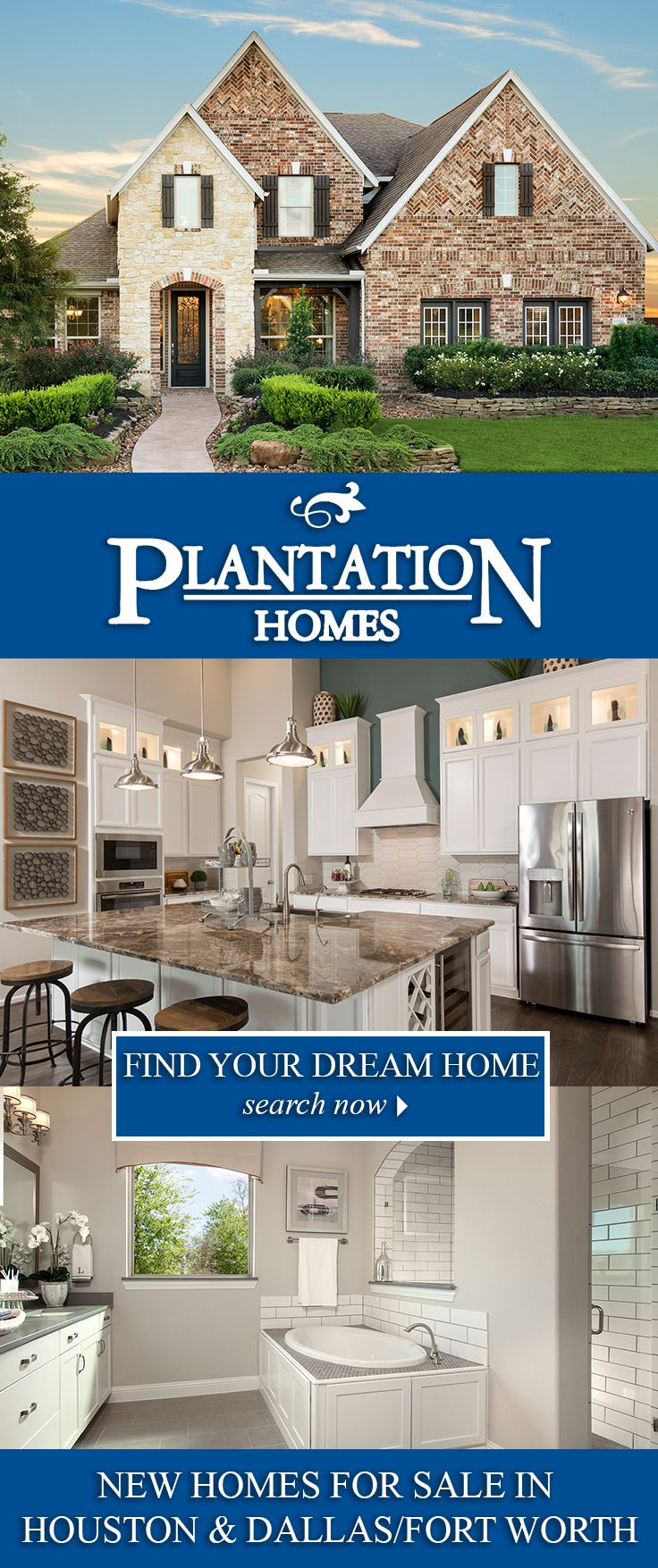 Newhome designs from Plantation Homes serve as the