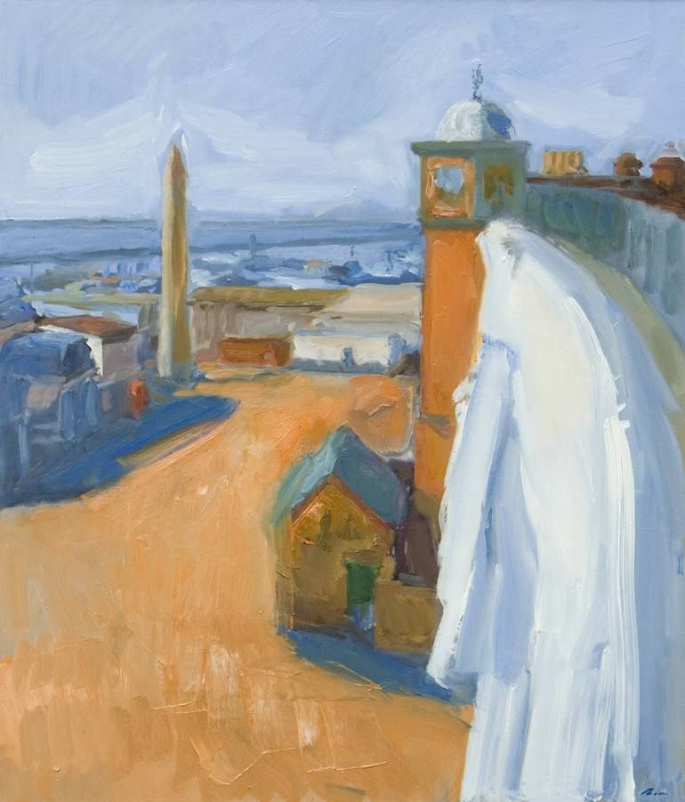 Original Cities Painting By Dumitru Bostan Junior Impressionism