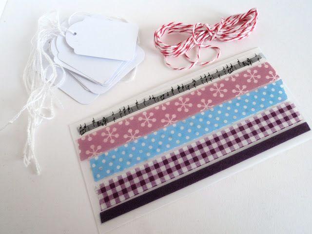 personaliza las tarjetas con washi tape