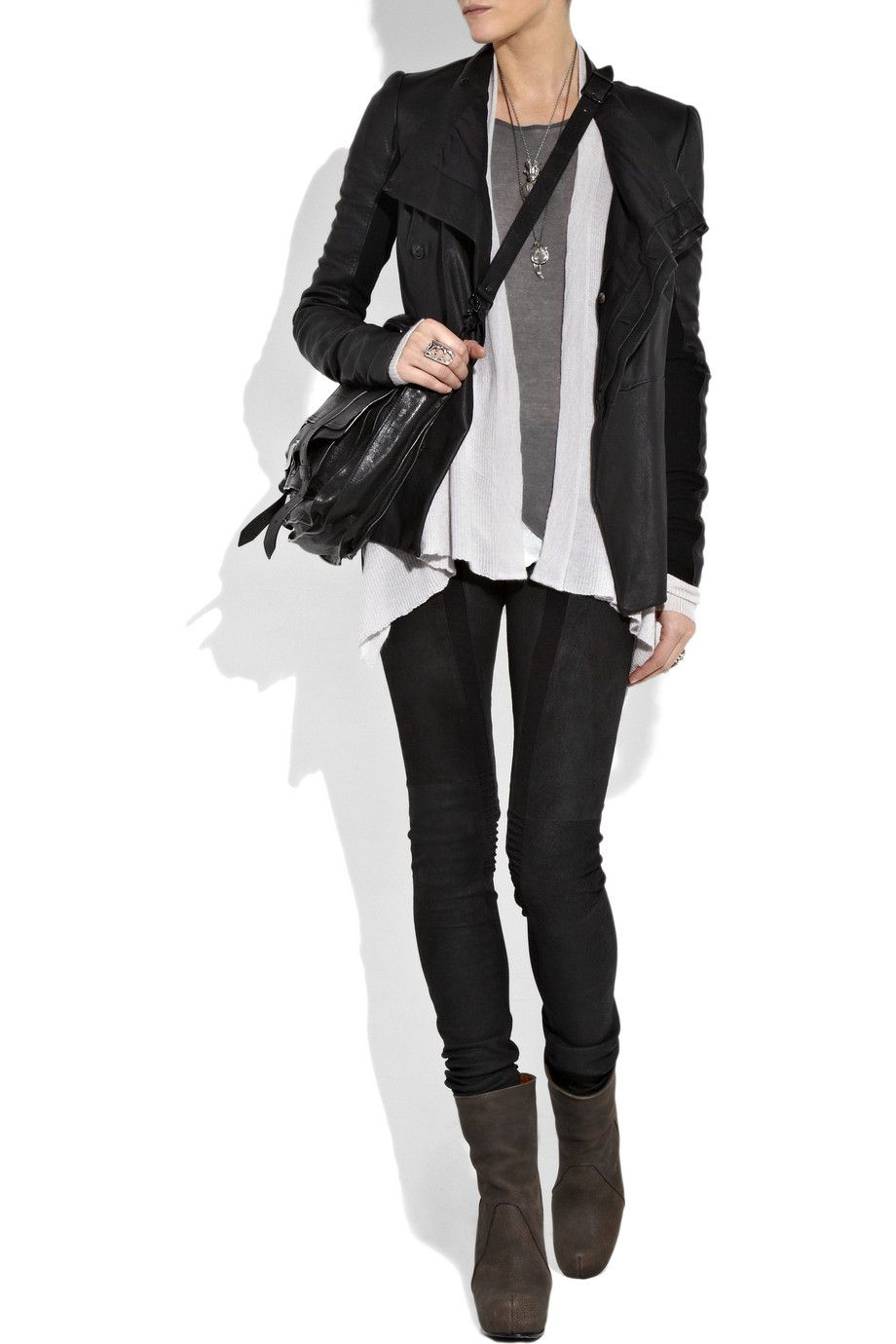 edgy fall outfit