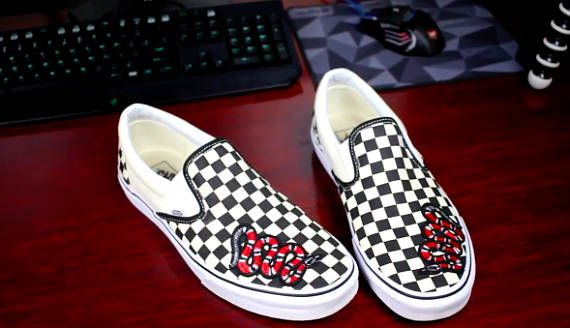 3cfb927615 Vans slip on shoes