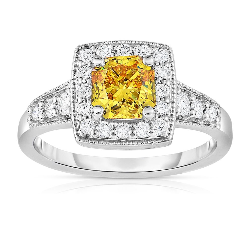 Solaura collection k white gold ct tw radiant cut labgrown