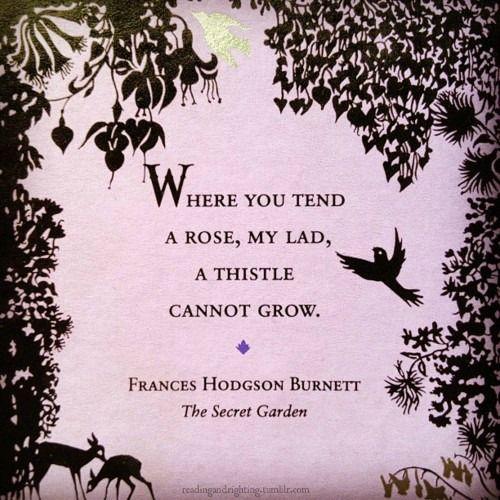Garden Quotes Frances Hodgson Burnett