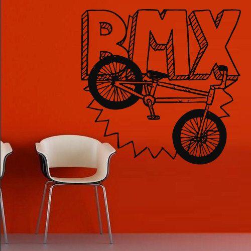 Wall Decal Art Décor Stickers Autocollant Chambre Grand Vélo Sport