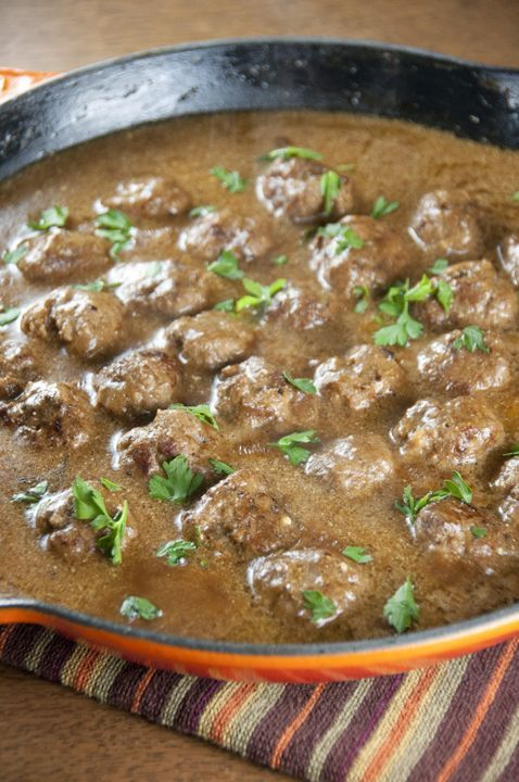 Swedish Meatballs With Creamy Gravy Wishes And Dishes Recipe Recipes Food Cooking Recipes