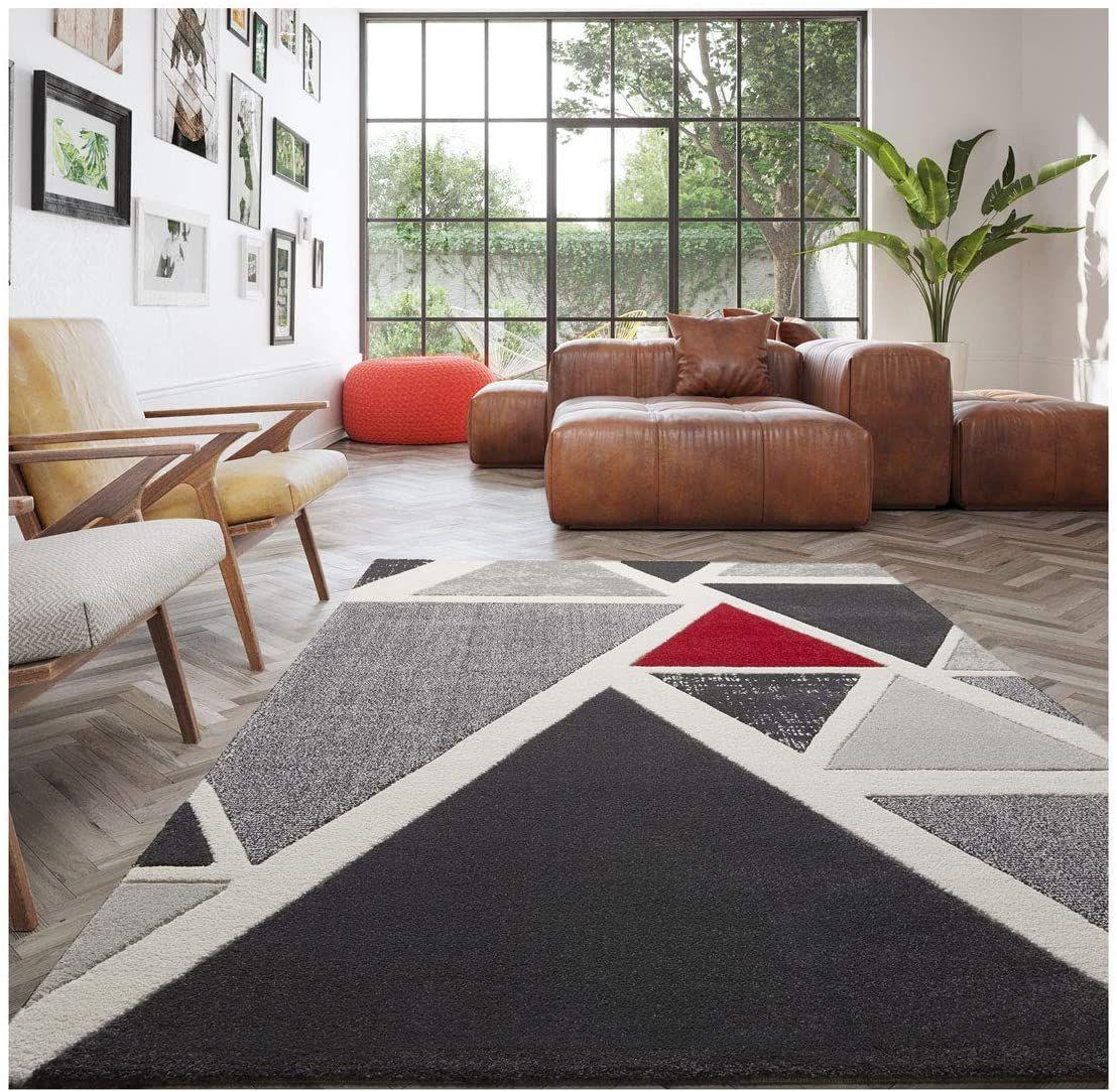 Balta Tapis De Salon Design Seventies 120 X 170 Cm Triangles Multicolores In 2020 Boutique