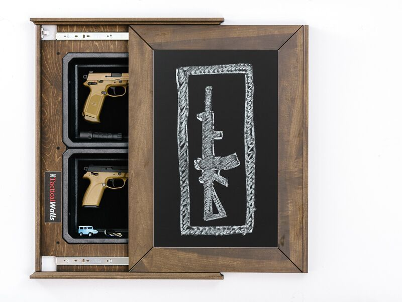 Tactical Walls 1420M Concealment Wall Chalk Board – Armed in Heels. Chalkboard that hides your guns while still looking beautiful in your home! Not a safe, but great concealment!