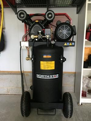 Northstar Single Stage Portable Electric Air Compressor 2 Hp 20 Gallon Vertical 5 0 Cfm Woodworking Tools Outdoor Tools Electric Air Compressor