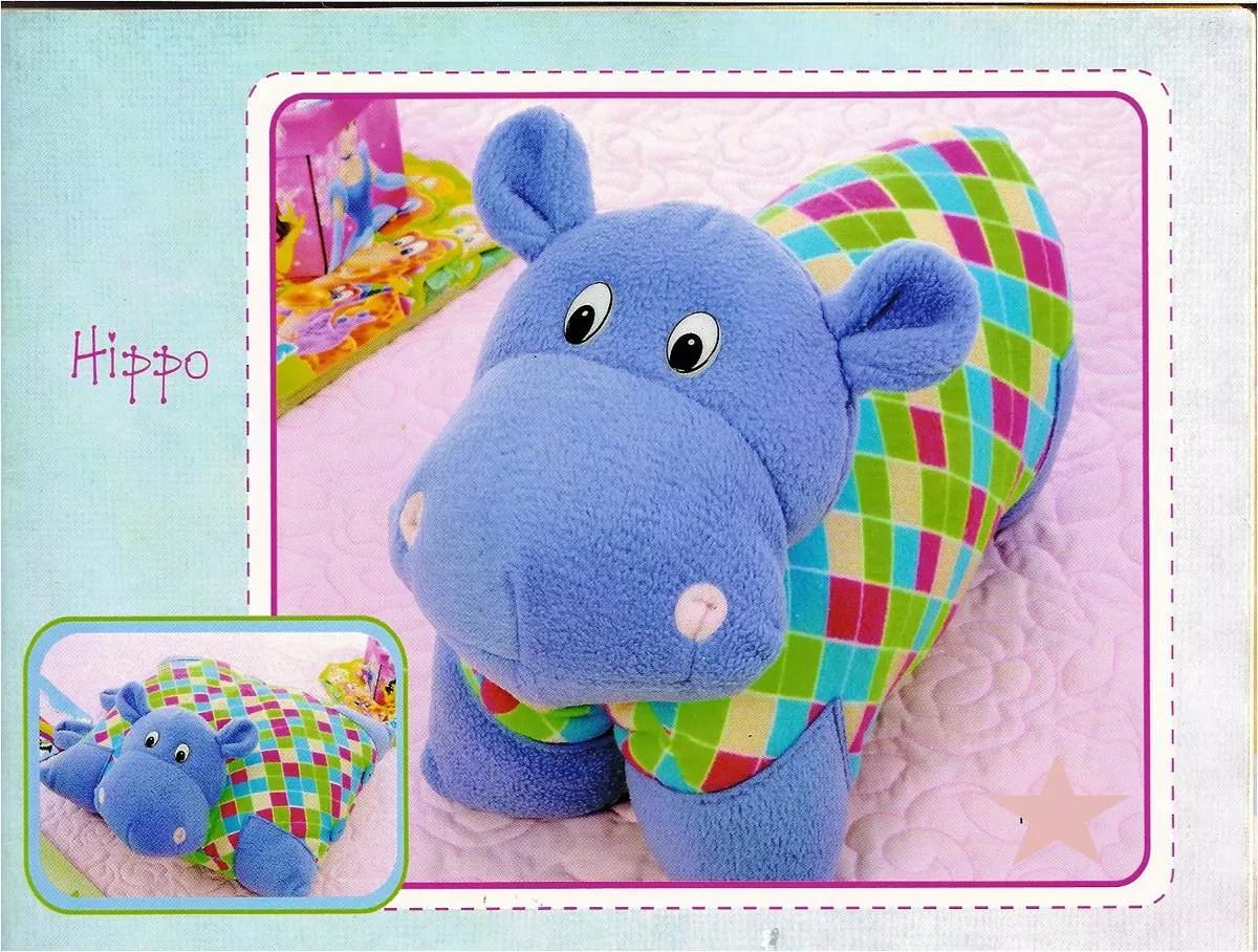 Patr n cojin hipopotamo proyectos a intentar pinterest - Patrones de cabezas de animales de tela ...