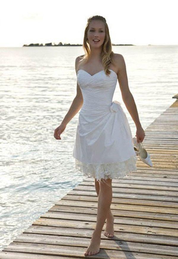 short simple wedding dresses