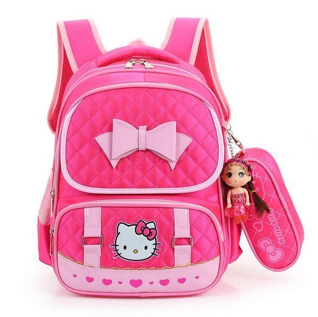 632360178ef7 High Quality Hello Kitty Girl School Bag Waterproof Primary Backpack Kid  Bag Lovely Boby Bag