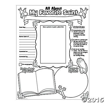 """Color Your Own """"All About Saints"""" Posters, Coloring Crafts"""