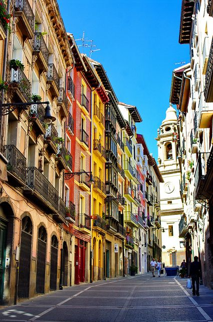 Pamplona pampelune navarra spain 13 calle navarreria - Calle santiago madrid ...