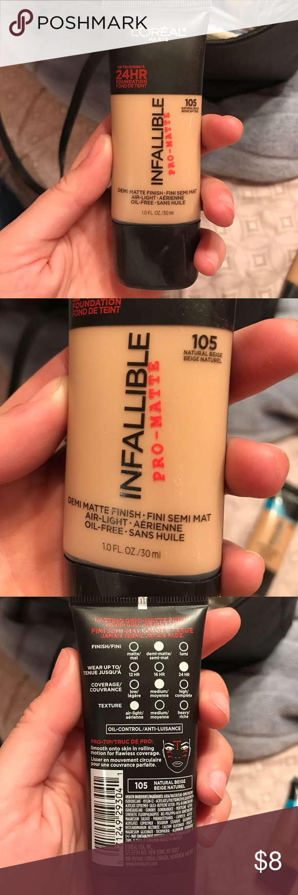 L'Oréal Infallible Natural Beige 105 Used twice. 80