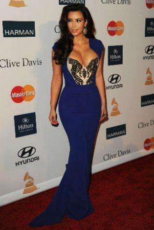 Kim Kardashian in Antonio Berardi at Clive Davis\' 2012 pre-Grammy ...