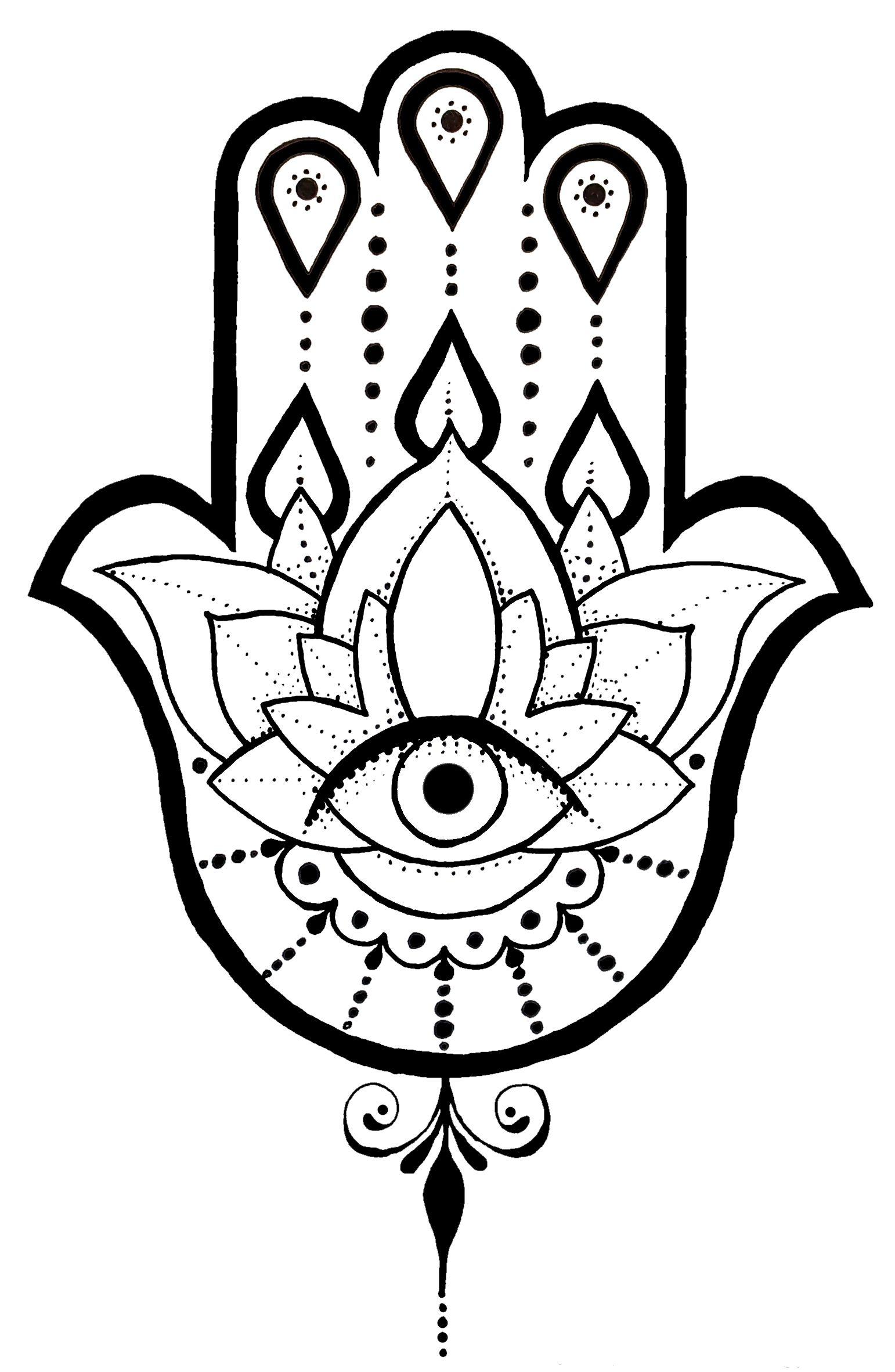 A Hamsa Tattoo Design I Created