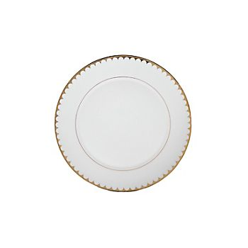 Gold Scallop Rim Dinner Plate 10.625""